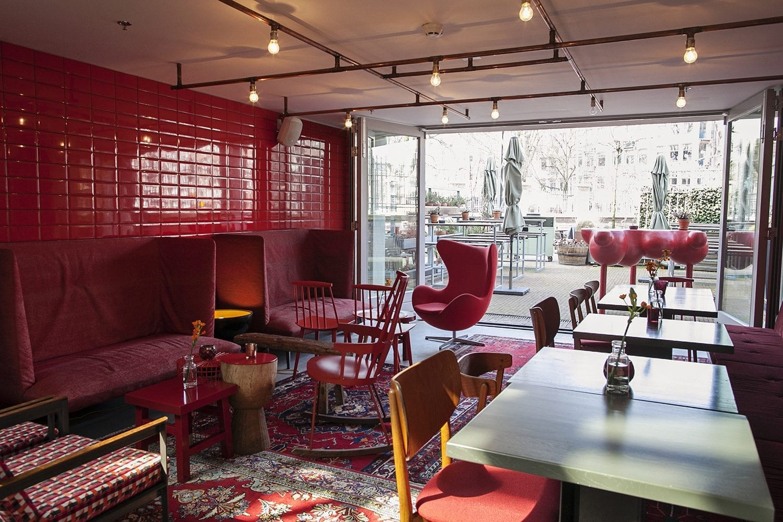 interior of hotel de Hallen in Amsterdam