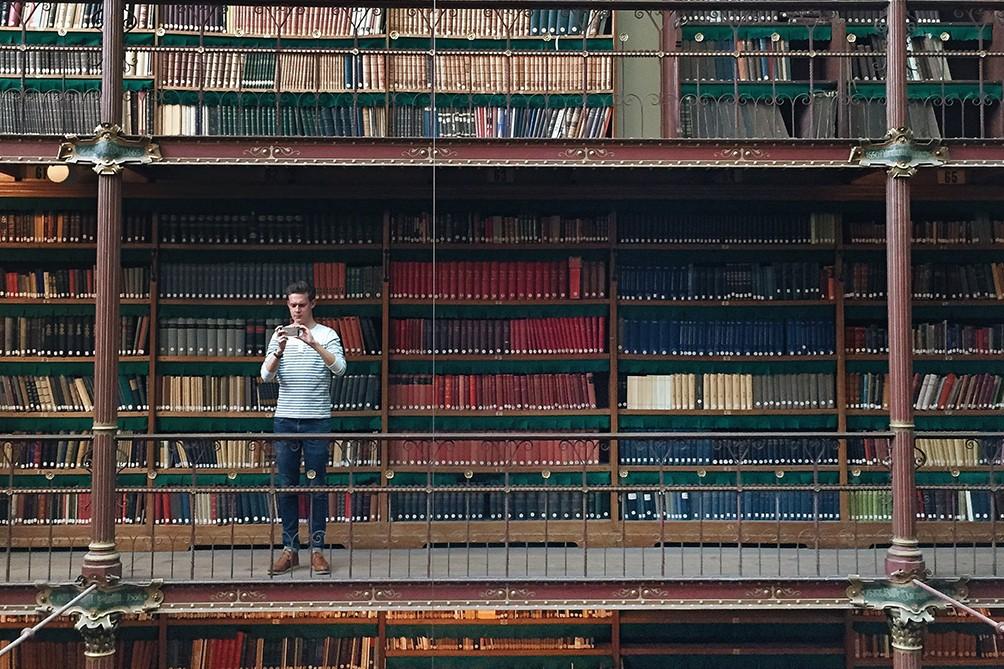 Rijksmuseum library at the emptyrijks instagram meet