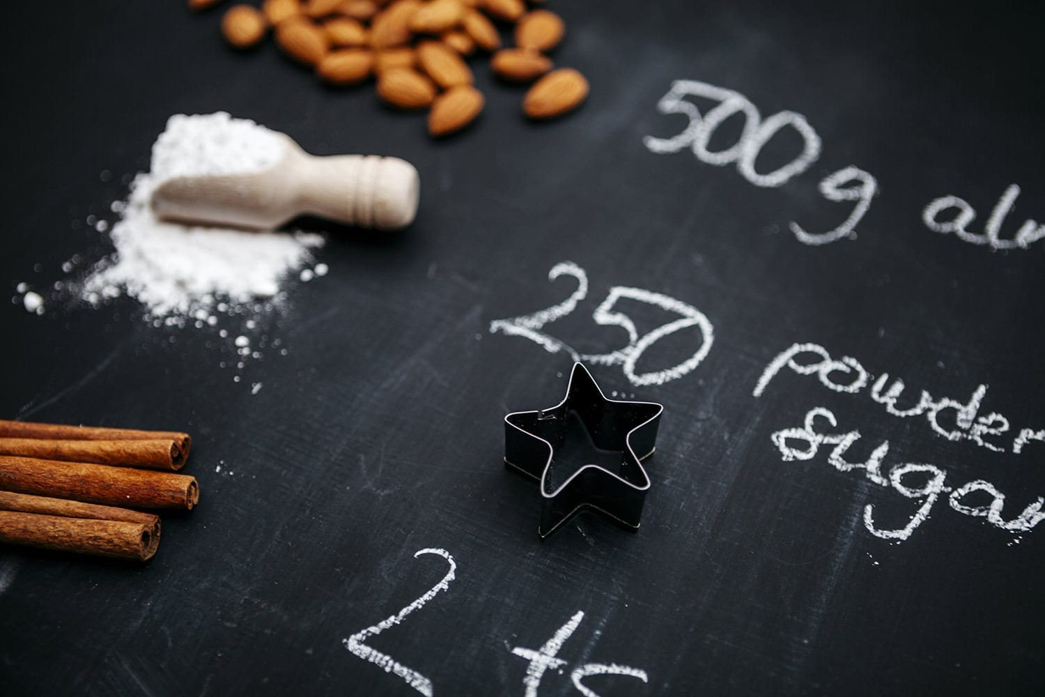 a star cookie cutter for baking cinnamon stars - a german Christmas recipe