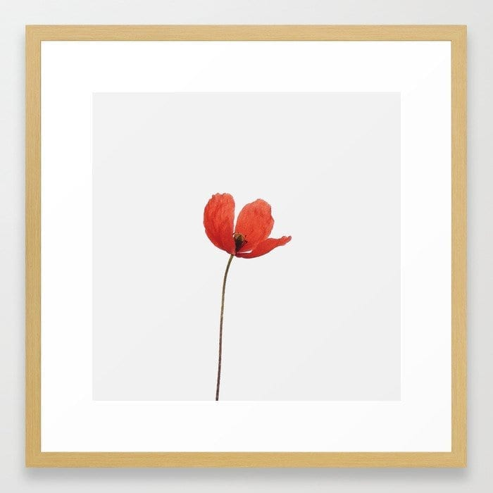 Simply poppy art print Marianne Hope