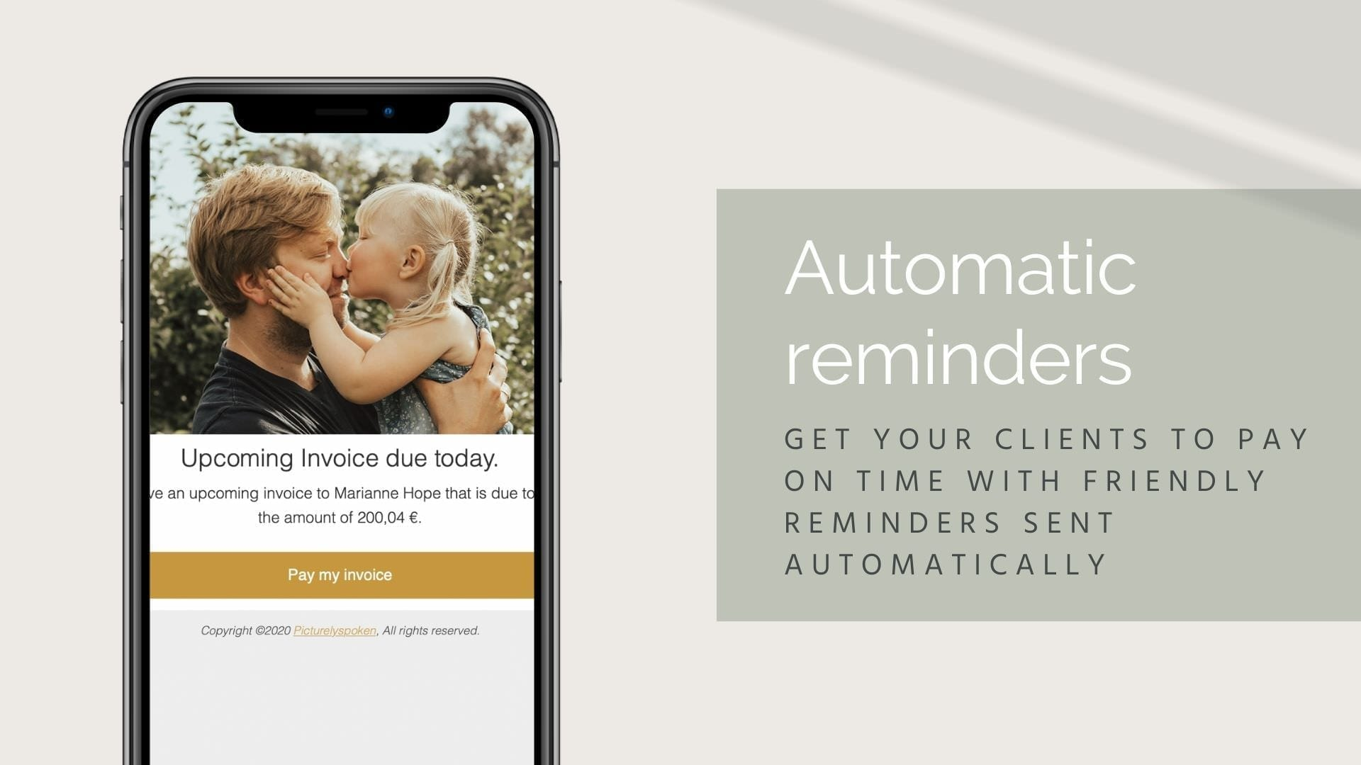Sprout studio automatic reminders to your clients email