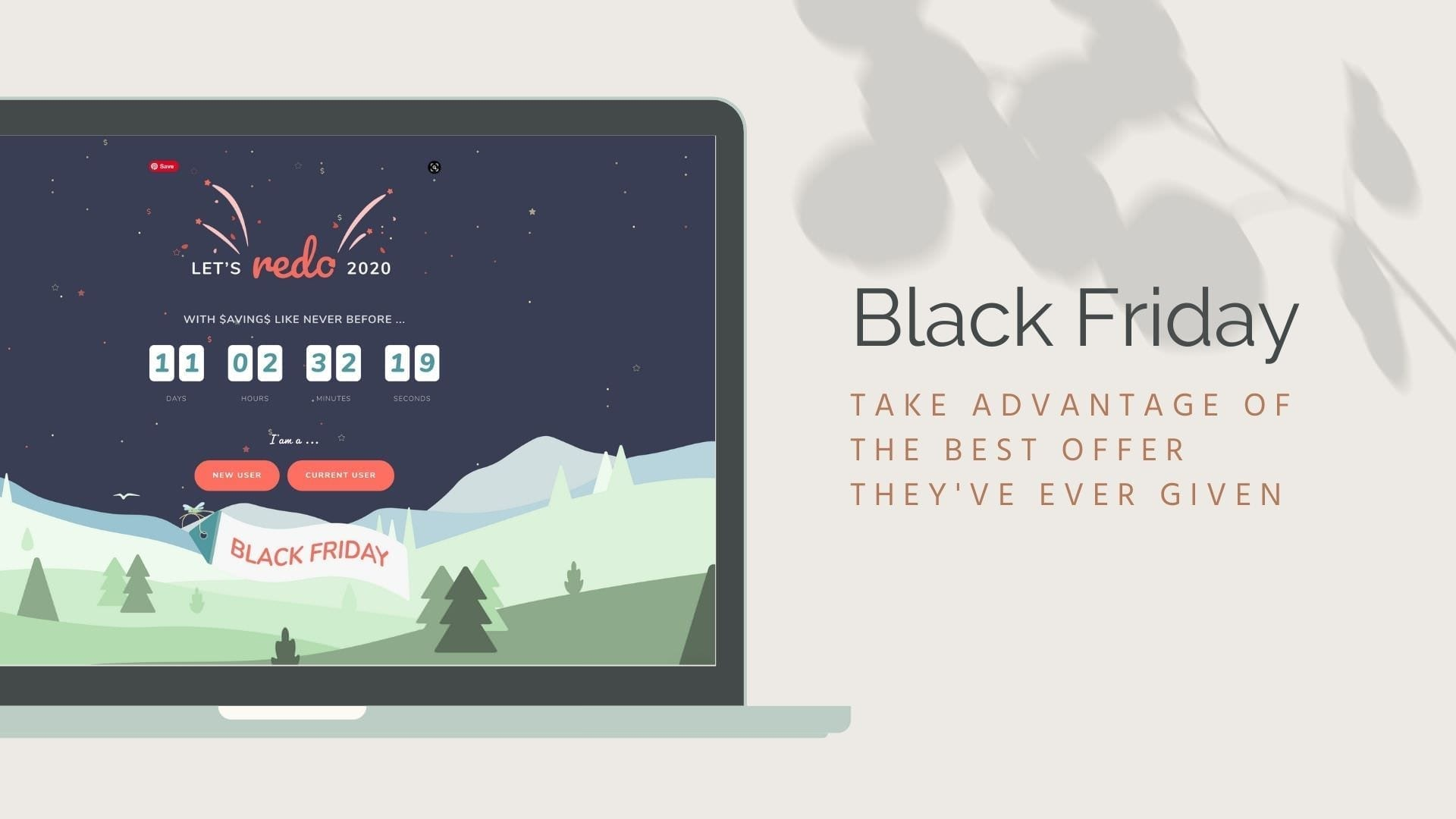 Screenshot of Sprout Studio website Black Friday offer, a Client relation management system for photographers