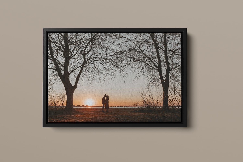professionele canvas met een zwarte baklijst - 40x30cm wall art