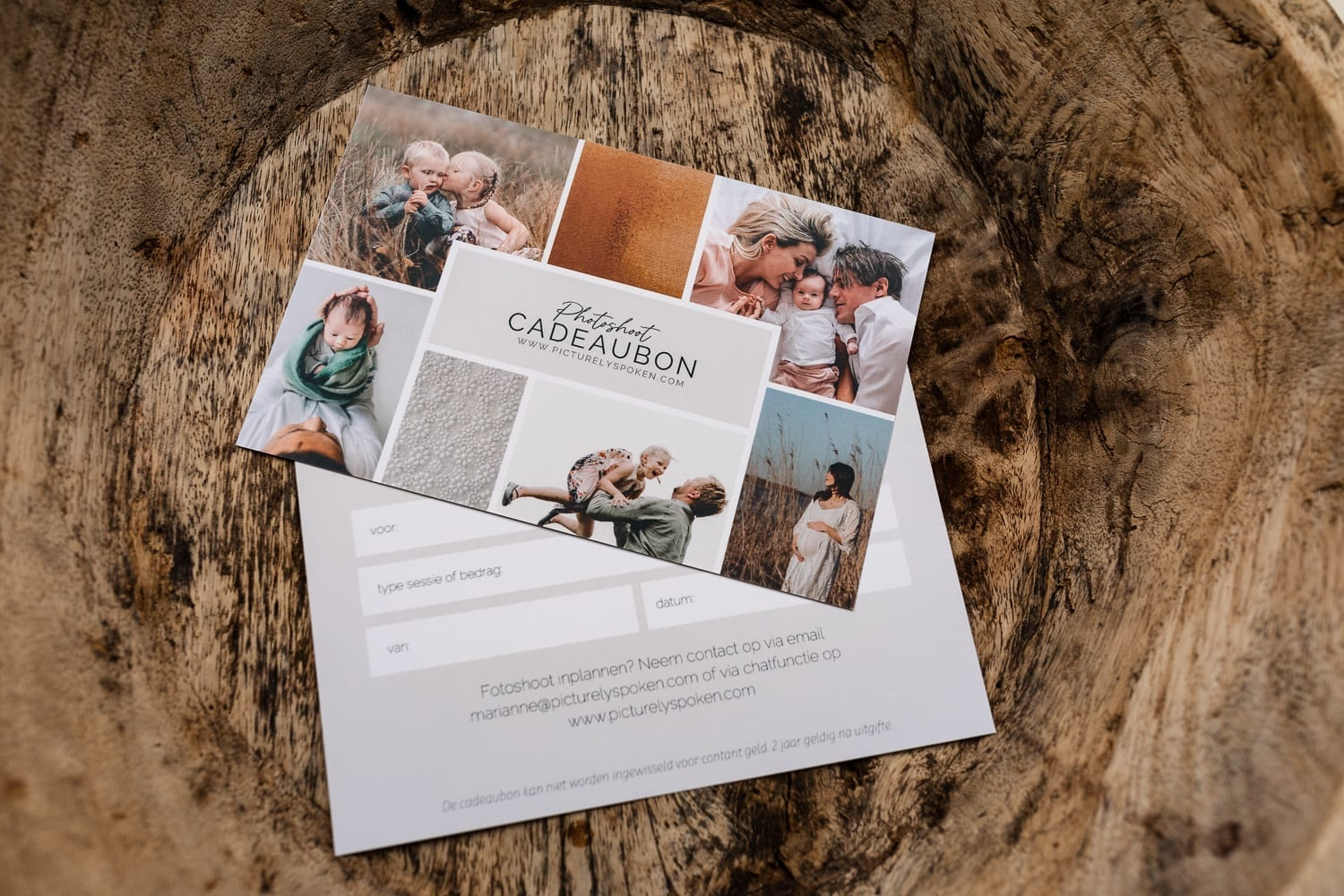 Photoshoot Gift cards - fotoshoot cadeaubon