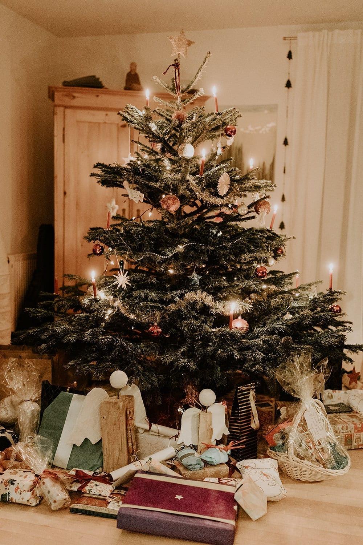 Photo of Christmas tree and Christmas decorations
