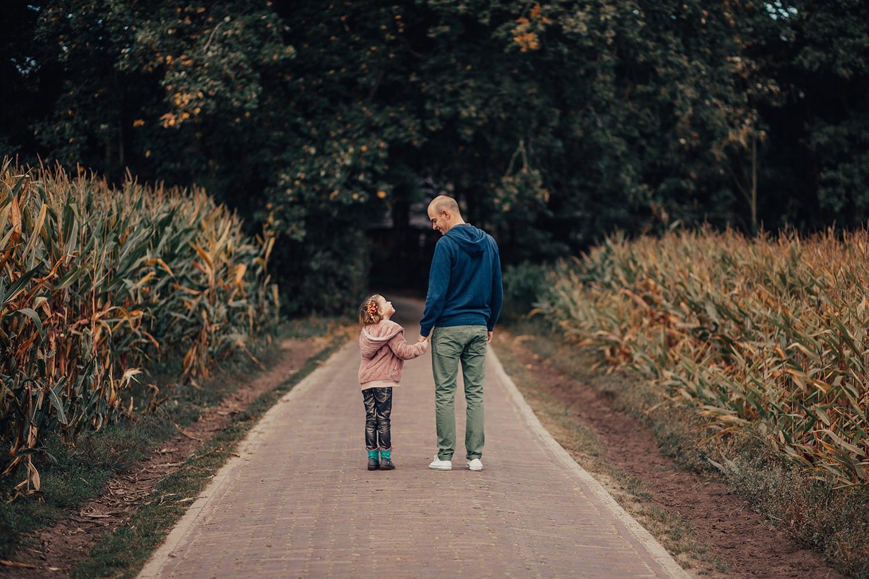leuke familie fotoshoot - vader en dochter